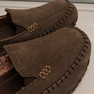 Skechers Slip On Relaxed Fit Brown Shoes